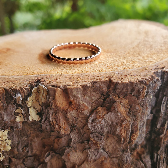 Beaded stacking ring RG add on