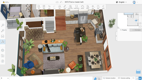 Aerial of Downstairs w Kit+Din addition.