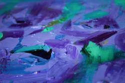 Purple space floral super close up
