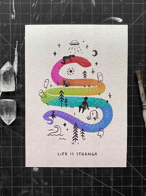 LIFE IS STRANGE 5x7 PRINT