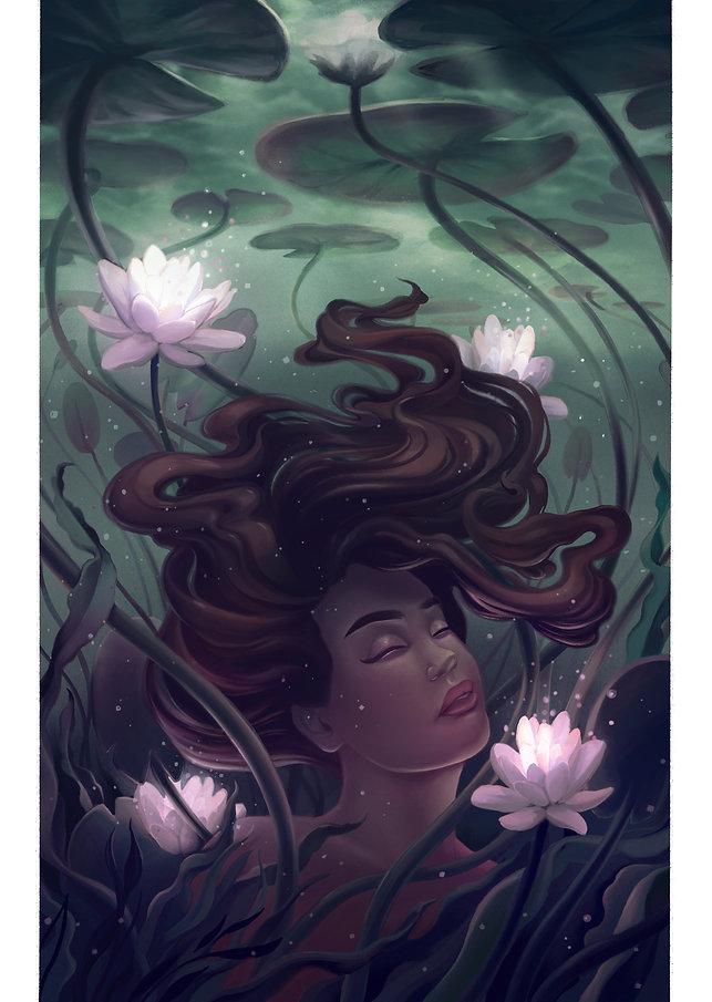 Under the lilies.jpg