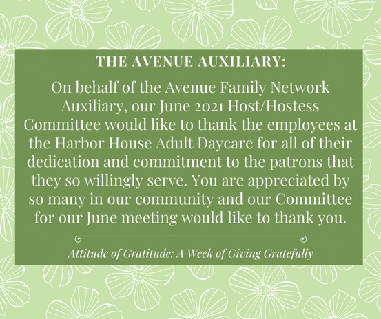 FROM THE AVENUE AUXILIARY
