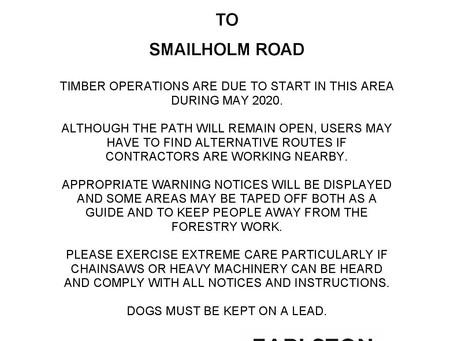 Diamond Jubilee Path - Timber works