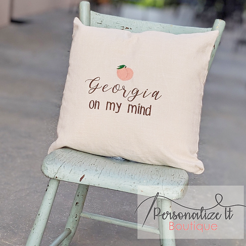Georgia on my Mind Pillow Cover