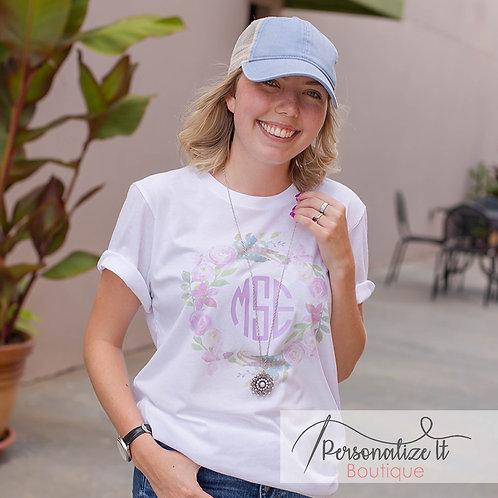 Monogram Floral T-Shirt