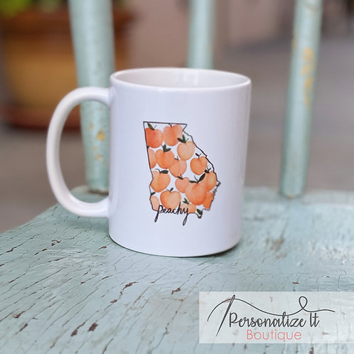 Just Peachy Coffee Cup