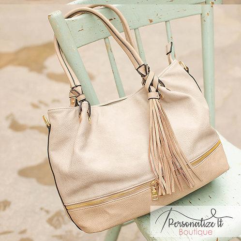 Linen Slouchy Hobo Bag