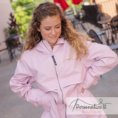 Pink Charles River Rain Jacket