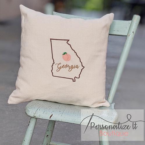 Georgia Peach Pillow Cover