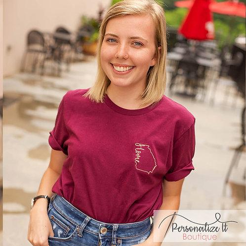 Georgia Home Embroidered T-Shirt