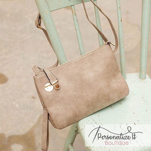 Monogrammable Twist Lock Crossbody