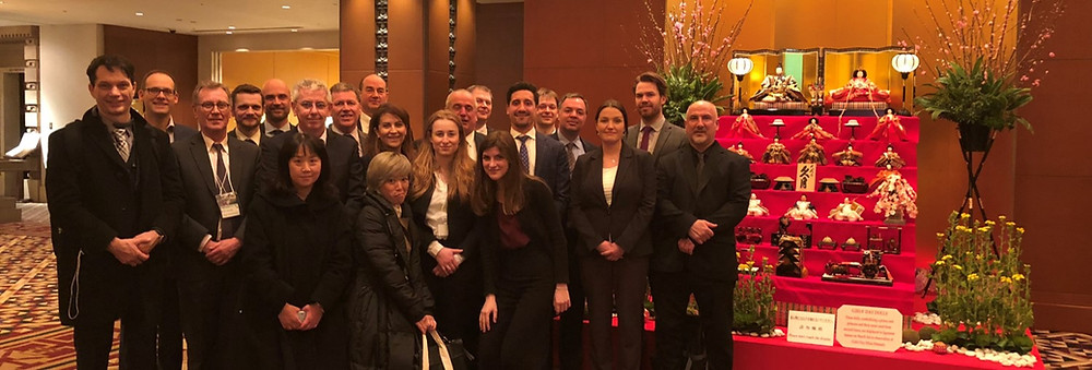 UK Trade Delegation in Tokyo with Alex Blyth of LIfT BioSciences on the far right, second to the end