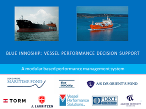 Final report from our InnoPlus Vessel Performance Decisions Support project