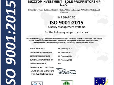 ISO 9001 BUZZTOP