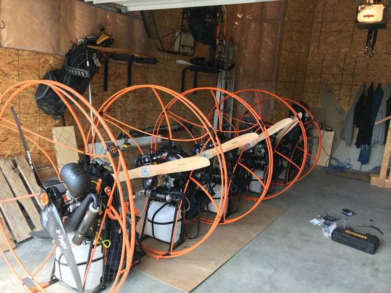 The spring Paramotor builds are complete and only a week until the next class starts. Soon to be New