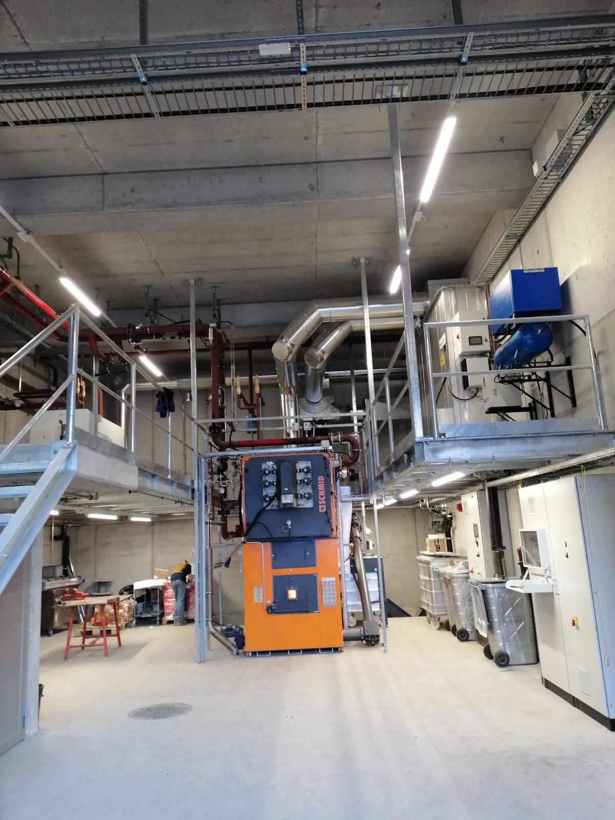 Airolo - Nuova centrale termica a cippat