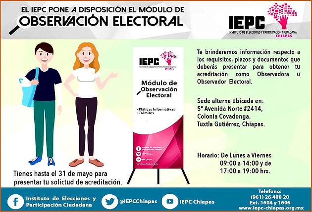 Convoca Iepc A La Ciudadanía A Participar Como Observadores