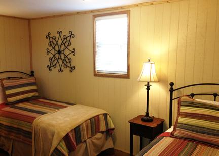 Grey House twin bedroom