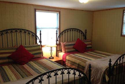 Grey House queen bedroom