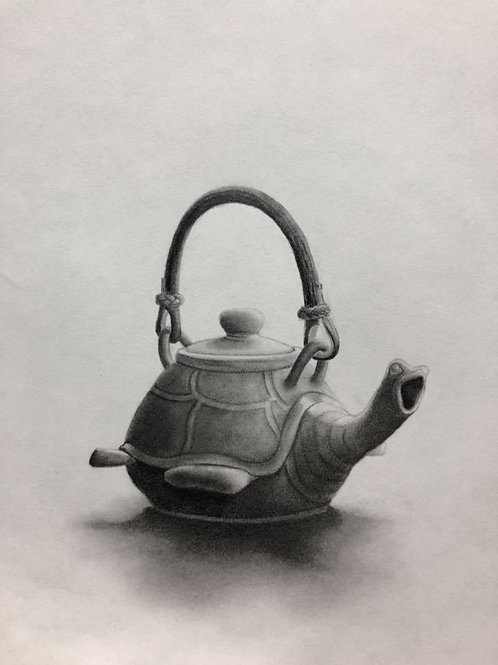 Turtle teapot, original drawing