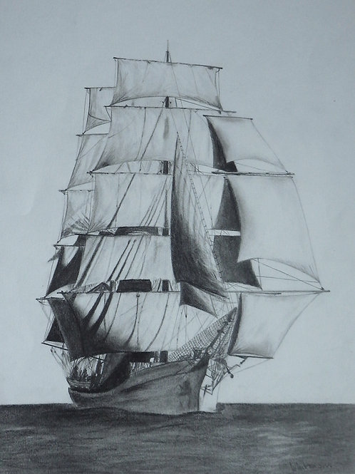 Picton Castle, original drawing