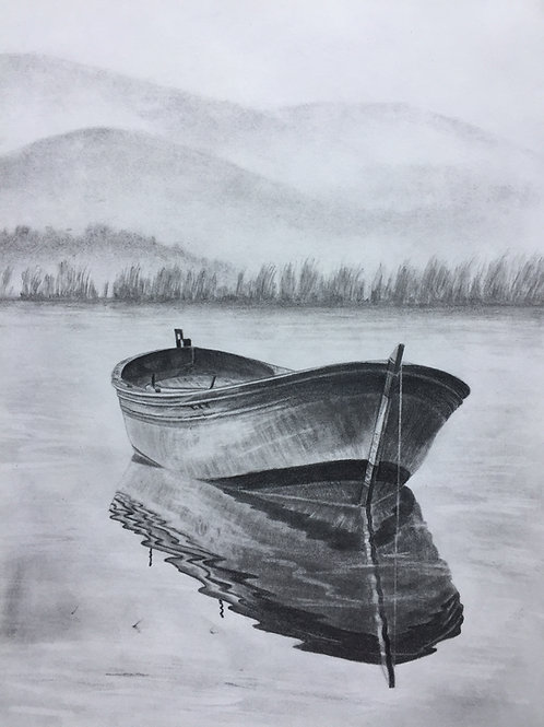 Row boat, original drawing
