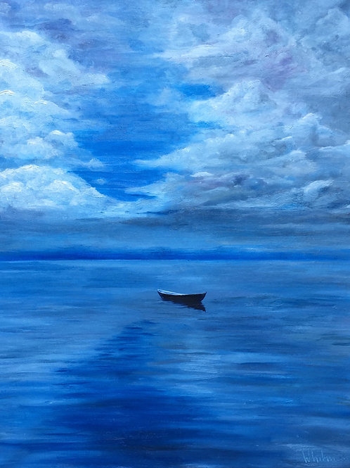 Tranquility. Original oil painting.