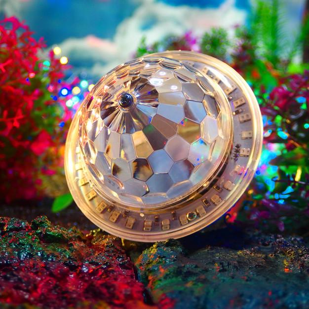 LED UFO bluetooth crystal magic ball ミラーボール ステージライト カラフル自走機能 リモコン付き LED マジックボール舞台照明 RGB 照明用 レーザー ライトE26E27口金