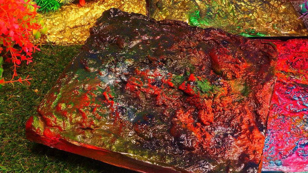 No 033 粘菌ライフ・レス・マーズ06 25cm X25cm ディスプレイ・台座・ジオラマ・模型・インテリア・フィギュア・プラモデル・ハンドメイド〔才も不才