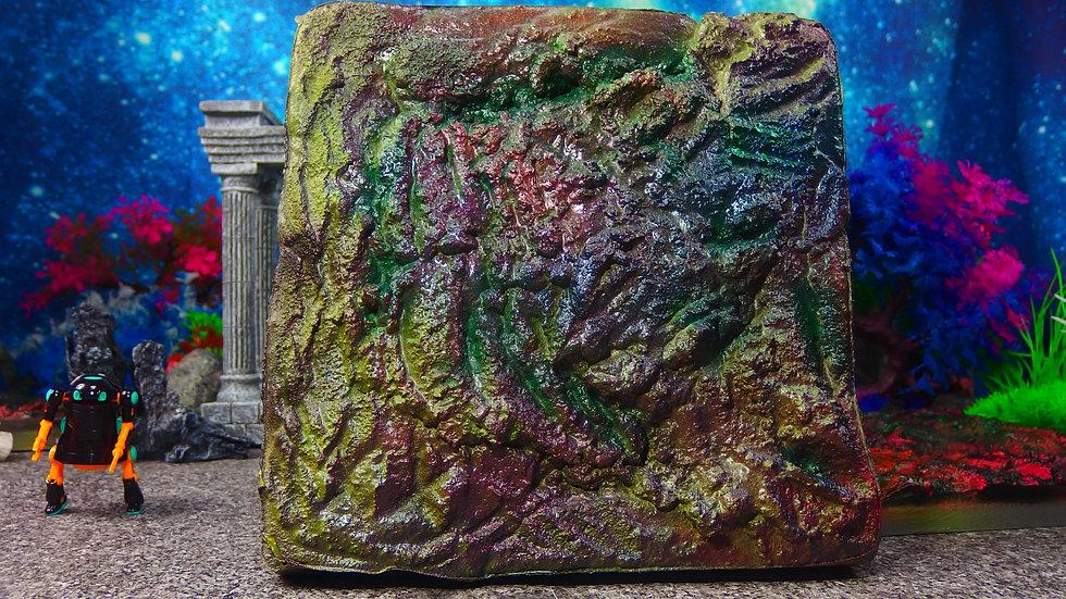 No 041 煌岩02 25cm X25cm ディスプレイ・台座・ジオラマ・模型・インテリア・フィギュア・プラモデル・ハンドメイド〔才も不才も〕