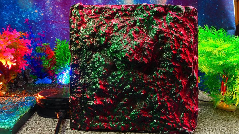 No 030 桃深緑盛 25cm X25cm ディスプレイ・台座・ジオラマ・模型・インテリア・フィギュア・プラモデル〔才も不才も〕
