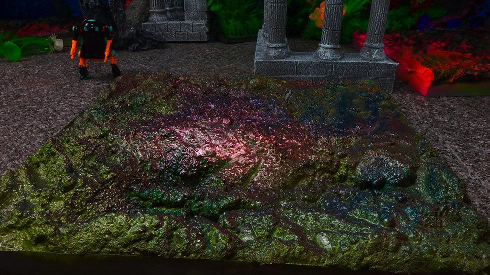 No 040 煌岩01 25cm X25cm ディスプレイ・台座・ジオラマ・模型・インテリア・フィギュア・プラモデル・ハンドメイド〔才も不才も〕