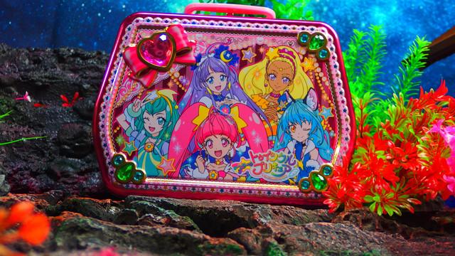 ハート STTプリキュアキラピカ手提げ缶(菓子5種入) STAR☆TWINKLE PRECURE
