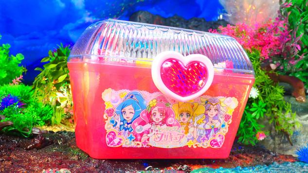 プリキュアクリアケース(菓子3種入)  (ヒーリングっどプリキュア)〔ハート〕
