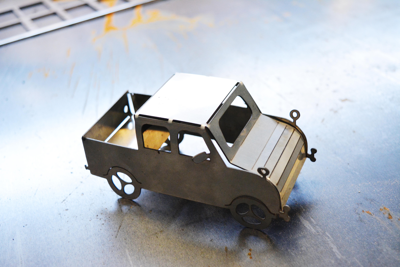 carro de acero