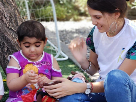 """""""A la quimio con mi simio"""" visita a nuestros niños."""
