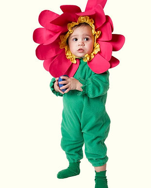 Costume Flor da criança