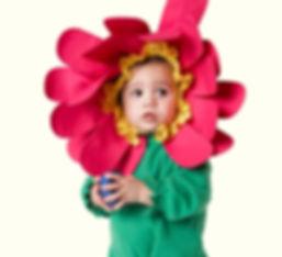 Småbarn Flower Costume