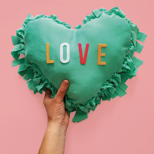 DIY heart pillow kit