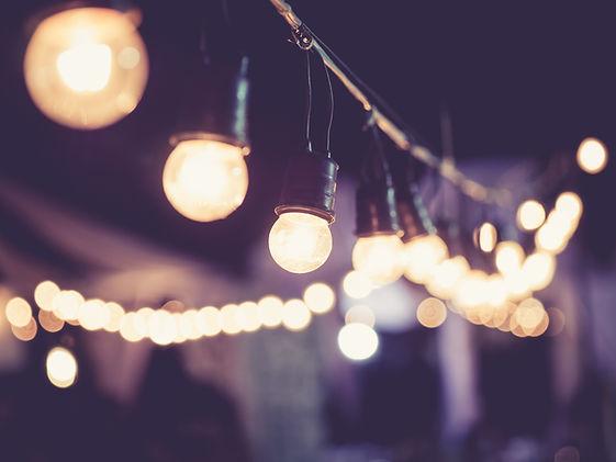 Осветление за сватба във Варна, винтидж крушки, стринг лайтс, strig lights,Lightbulbs