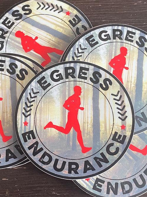 Egress Endurance Round durable vinyl sticker