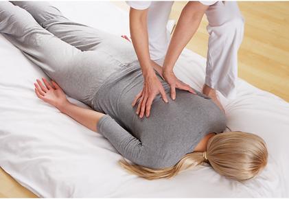 Massage dos relaxation corporelle