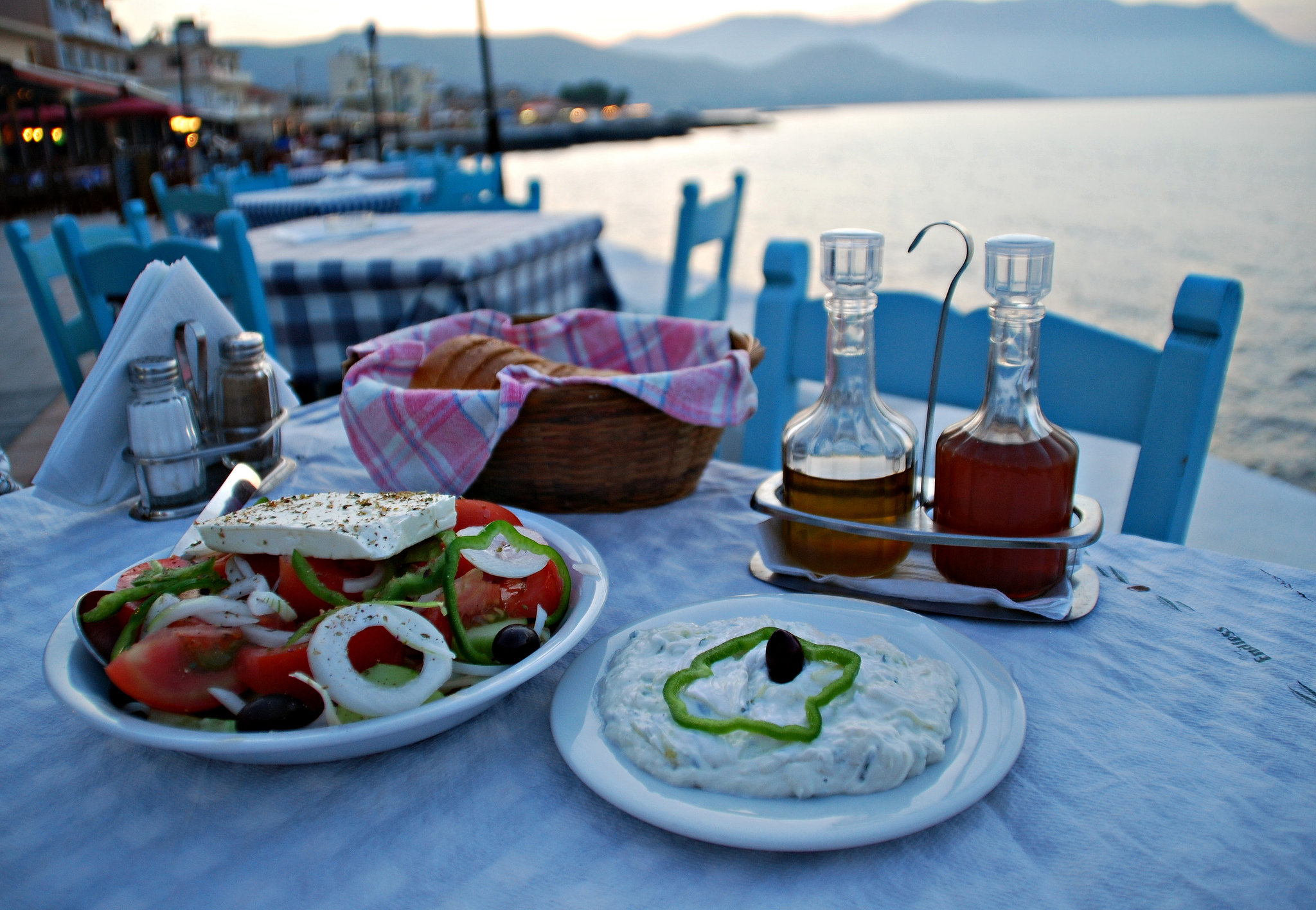 Enjoy a traditional Greek salad