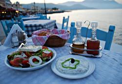 Enjoy a traditional Greek salad