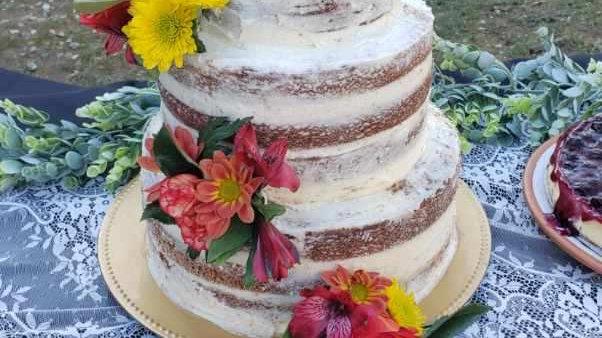 "3 Tier Wedding Cake (8"", 6"",4"" or 10"", 8"", 6"")"