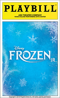 Frozen Jr Playbill