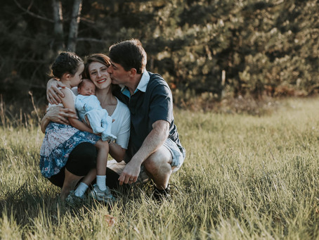 The Mitchell's | Summer Family Photo Session | Merrick State Park, Wisconsin