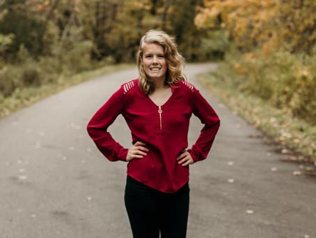 Kyra | Fall Senior Photo Session | St. Charles, Minnesota