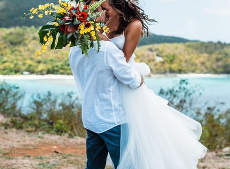 Intimate Beach Elopement Wedding in the Virgin Island's National park | St. John's | Janelle + Chris