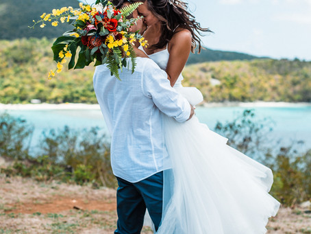 Intimate Beach Elopement Wedding in the Virgin Island's National park | St. John's | Janelle + Chris